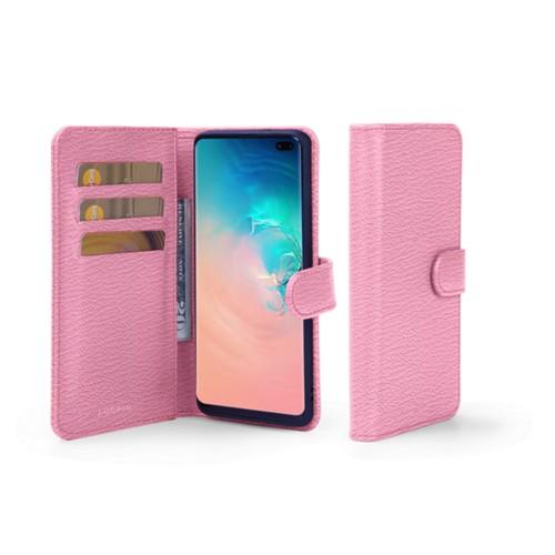 Portemonneehoesje voor de Samsung Galaxy S10 Plus - Roze - Geitenleer