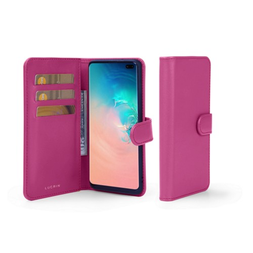 Samsung Galaxy S10 Plus Wallet Case - Fuchsia  - Smooth Leather