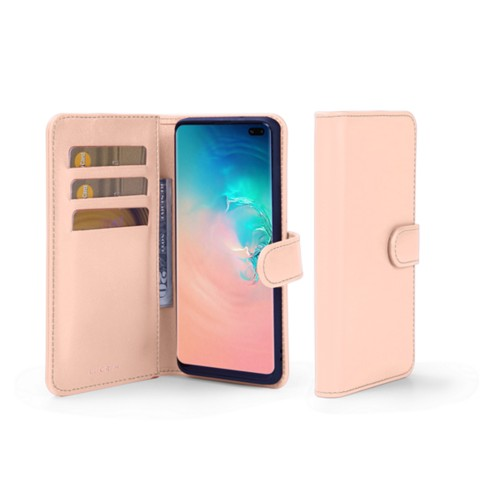 Samsung Galaxy S10 Plus Wallet Case - Nude - Smooth Leather