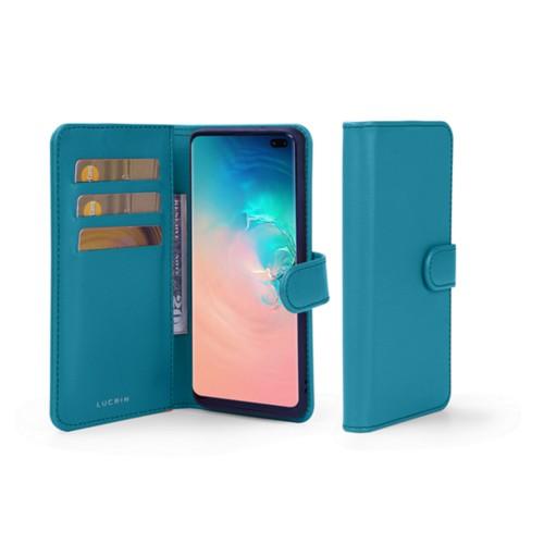Portemonneehoesje voor de Samsung Galaxy S10 Plus - Turquoise - Soepel Leer
