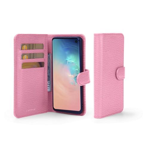Portemonneehoesje voor de Samsung Galaxy S10 - Roze - Geitenleer