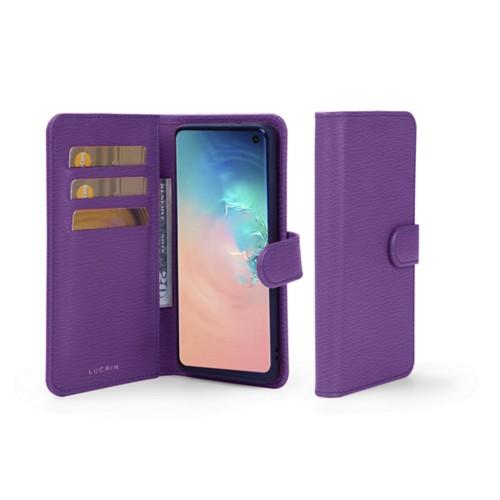 Portemonneehoesje voor de Samsung Galaxy S10 - Paars - Geitenleer