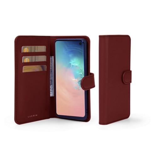 Portemonneehoesje voor de Samsung Galaxy S10 - Bordeaux - Soepel Leer