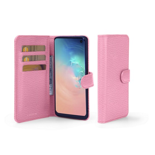 Samsung Galaxy S10e Wallet Case - Pink - Goat Leather