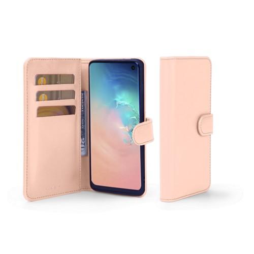 Portemonneehoesje voor de Samsung Galaxy S10e - Nude - Soepel Leer