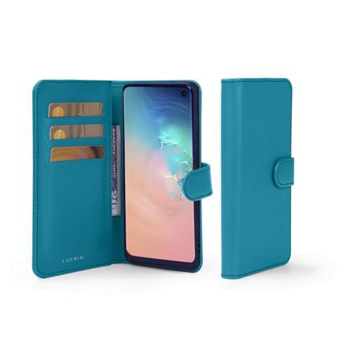 Portemonneehoesje voor de Samsung Galaxy S10e - Turquoise - Soepel Leer