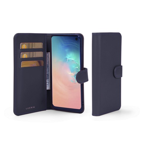 Samsung Galaxy S10e Wallet Case - Purple - Smooth Leather