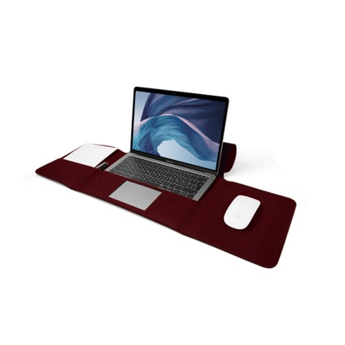 MacBook Air Case 13-inch - Burgundy - Granulated Leather