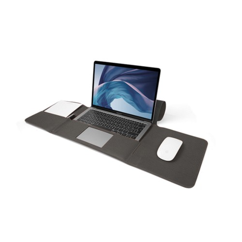 MacBook Air Case 13-inch - Mouse-Grey - Granulated Leather