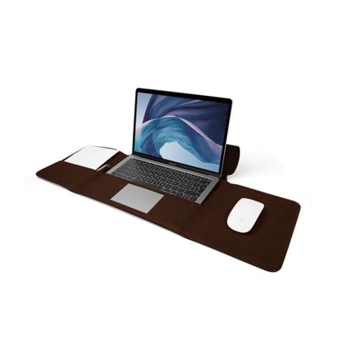 MacBook Air Case 13-inch - Dark Brown - Granulated Leather