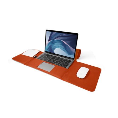 MacBook Air Case 13-inch - Orange - Granulated Leather