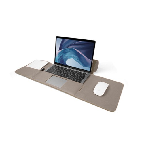 MacBook Air Case 13-inch - Light Taupe - Granulated Leather