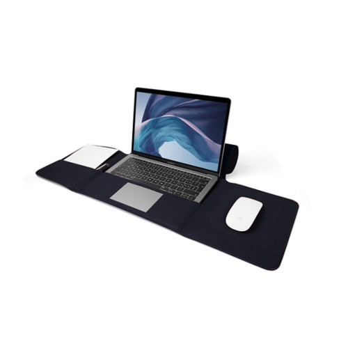 "Custodia per MacBook Air 13"" - Blu Navy - Pelle Liscia"