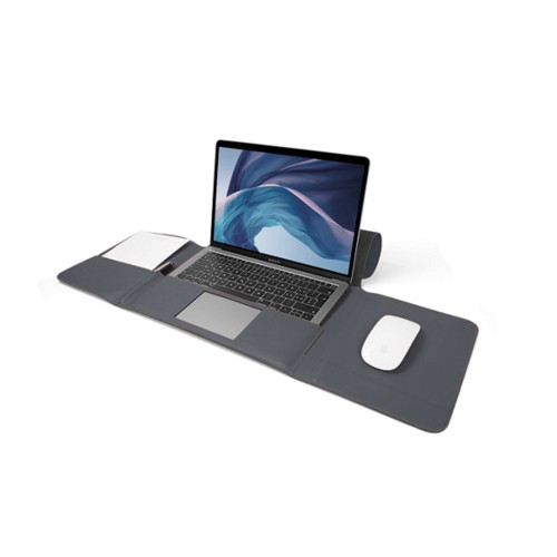 MacBook Air Case 13-inch - Mouse-Grey - Smooth Leather