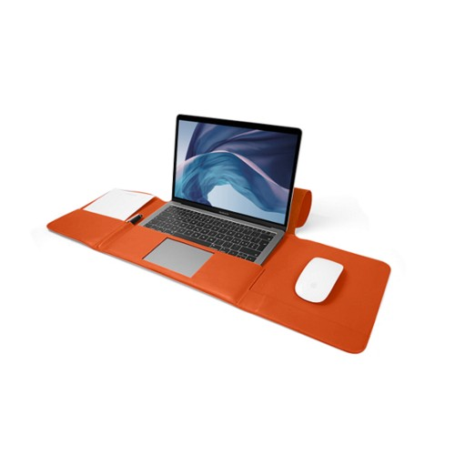 MacBook Air Case 13-inch - Orange - Smooth Leather