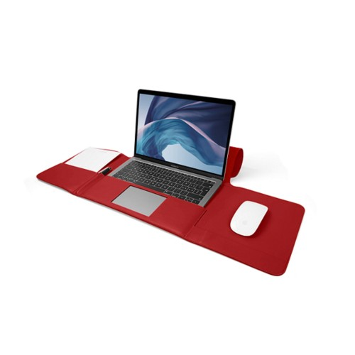 MacBook Air Case 13-inch - Red - Smooth Leather