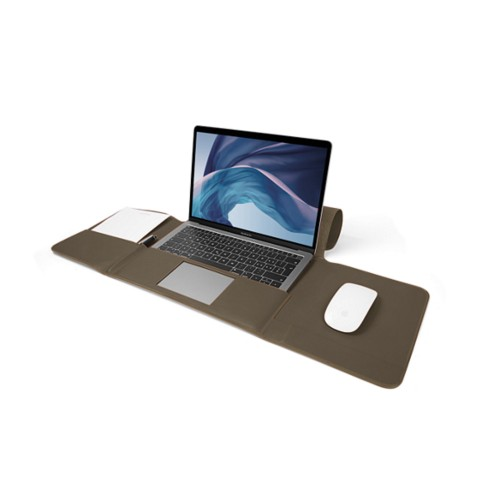 MacBook Air Case 13-inch - Dark Taupe - Smooth Leather