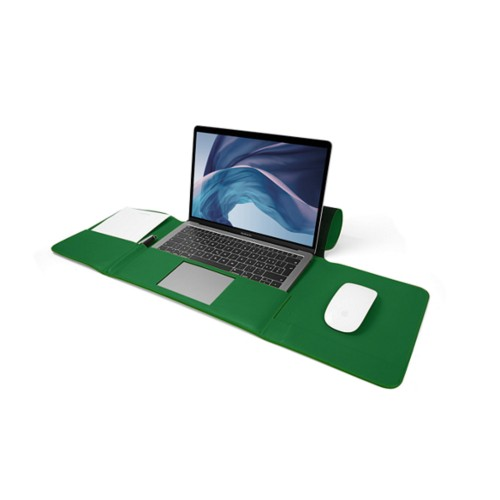 MacBook Air Case 13-inch - Light Green - Smooth Leather