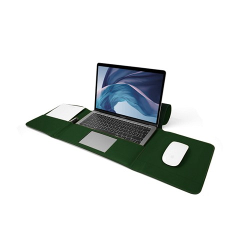 MacBook Air Case 13-inch - Dark Green - Smooth Leather