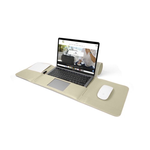 MacBook Pro Case 13-inch - Off-White - Smooth Leather