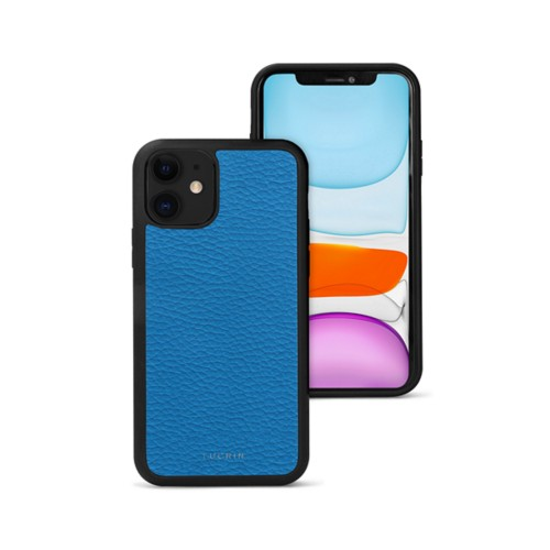 Coque iPhone 11 - Cobalto - Cuir Grainé