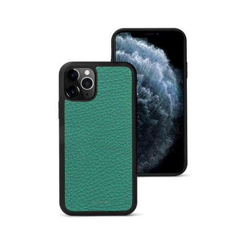 iPhone 11 Pro Max Cover - Emerald - Granulated Leather