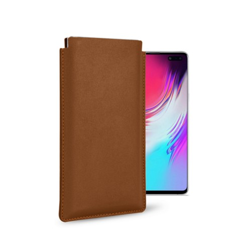 Classic Case for Samsung Galaxy S10 5G - Tan - Smooth Leather
