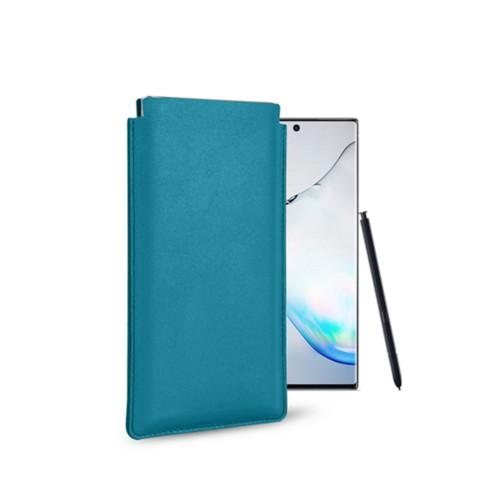 Klassiek Hoesje voor Samsung Galaxy Note 10 - Turquoise - Soepel Leer
