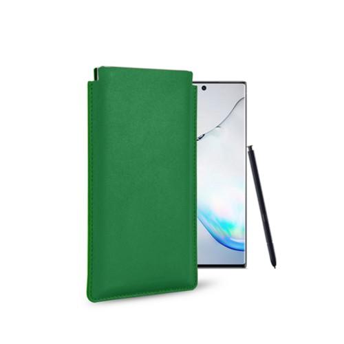 Klassiek Hoesje voor Samsung Galaxy Note 10 - Lichtgroen - Soepel Leer