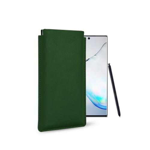 Klassiek Hoesje voor Samsung Galaxy Note 10 - Donkergroen - Soepel Leer
