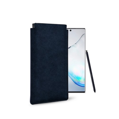 Klassiek Hoesje voor Samsung Galaxy Note 10 - Marineblauw - Plantaardig gelooid leer