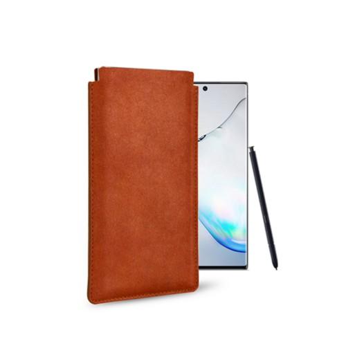 Klassiek Hoesje voor Samsung Galaxy Note 10 - Tan - Plantaardig gelooid leer