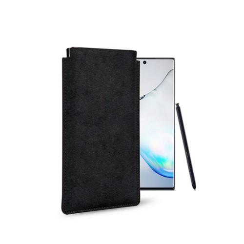 Klassiek Hoesje voor Samsung Galaxy Note 10 - Zwart - Plantaardig gelooid leer