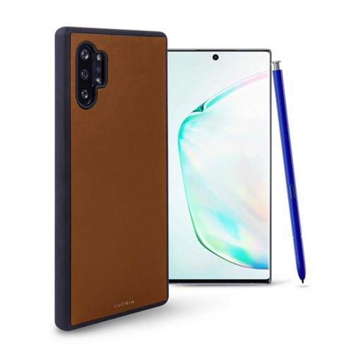 Samsung Galaxy Note 10 Plus Cover - Tan - Smooth Leather