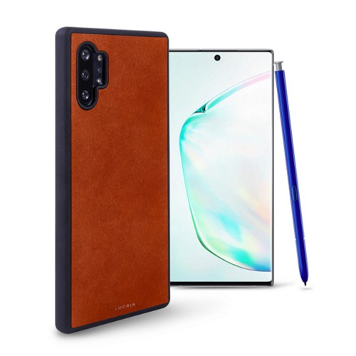 Cover voor Samsung Galaxy Note 10 Plus - Tan - Plantaardig gelooid leer