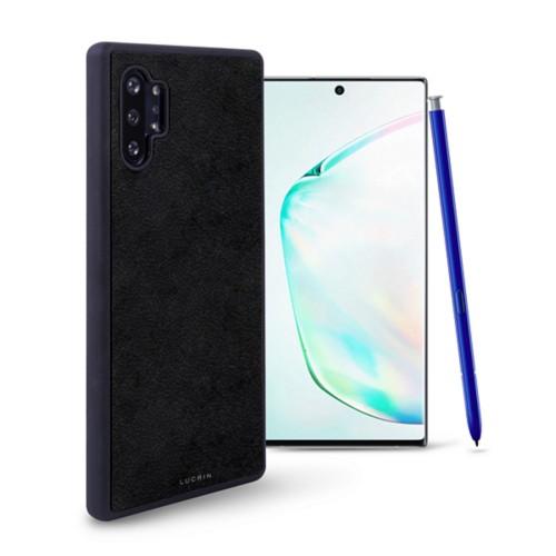 Cover voor Samsung Galaxy Note 10 Plus - Zwart - Plantaardig gelooid leer
