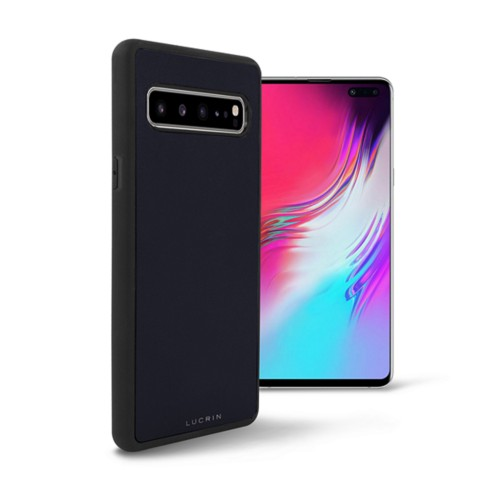 Samsung Galaxy S10 5G Cover - Navy Blue - Smooth Leather