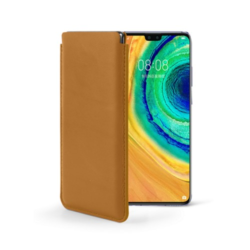 Classic sleeve for  Huawei Mate 30 - Natural - Smooth Leather