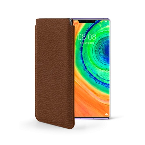 Sleeve for Huawei Mate 30 Pro - Tan - Granulated Leather