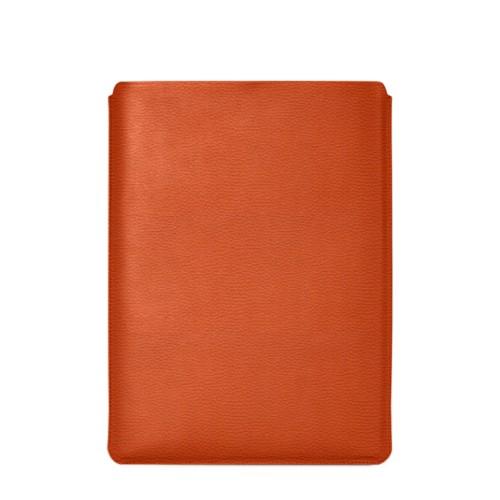 """Schutzhülle für MacBook Pro 16"""" - Orange - Genarbtes Leder"""
