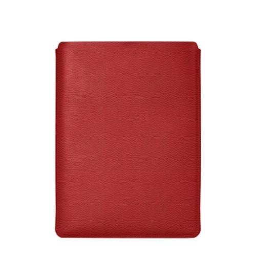 """Schutzhülle für MacBook Pro 16"""" - Rot - Genarbtes Leder"""