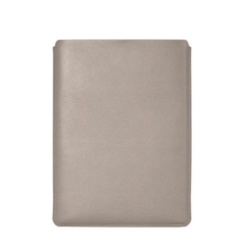 """Schutzhülle für MacBook Pro 16"""" - Hellbraun - Genarbtes Leder"""