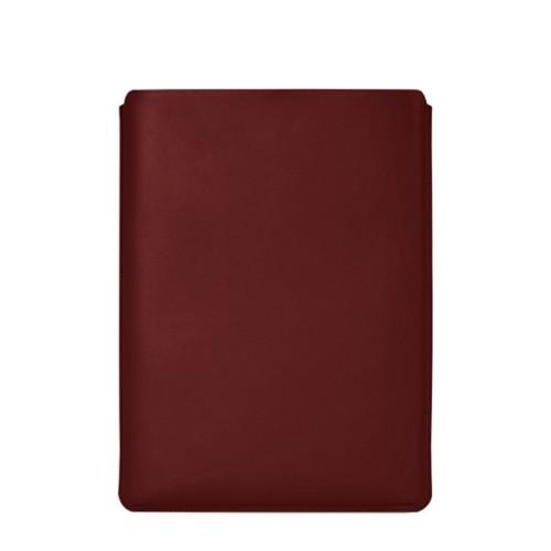 """Schutzhülle für MacBook Pro 16"""" - Weinrot - Glattleder"""