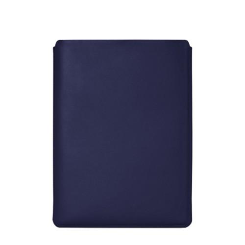"""Schutzhülle für MacBook Pro 16"""" - Marineblau  - Glattleder"""