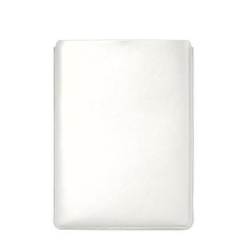 """Schutzhülle für MacBook Pro 16"""" - Weiß - Glattleder"""