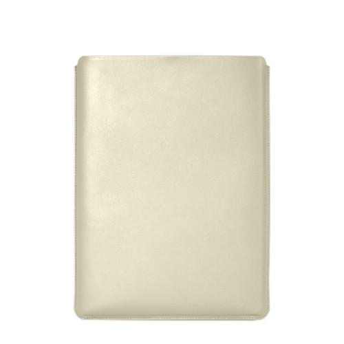 """Schutzhülle für MacBook Pro 16"""" - Gebrochen Weiß - Glattleder"""