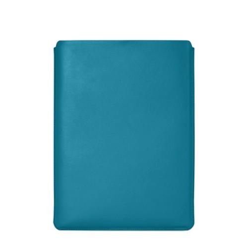 """Schutzhülle für MacBook Pro 16"""" - Türkisblau - Glattleder"""
