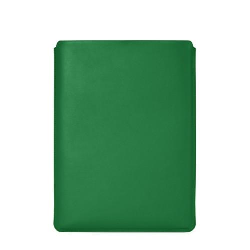 """Schutzhülle für MacBook Pro 16"""" - Hellgrün - Glattleder"""