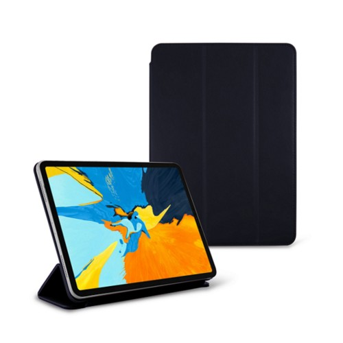 11-inch iPad Pro 2019 Case & Smart Cover - Navy Blue - Smooth Leather