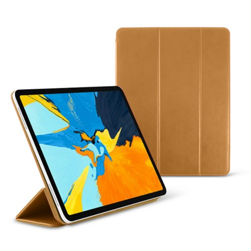 12.9-inch iPad Pro (2019) Case & Smart Cover - Natural - Smooth Leather